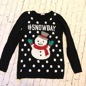 Justice snowman sweater size 12